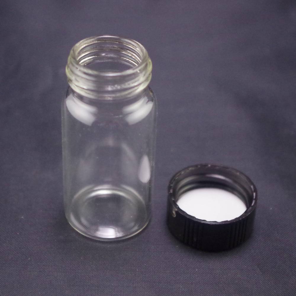 5pcs 20ml Sample Bottle CLEAR Glass Screw Top