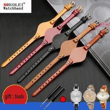Correas de reloj de piel auténtica de alta calidad para mujer, pulsera pequeña con estilo para fossil ES3077 ES2830 ES3262 ES3060