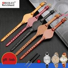 Hohe qualität echtes leder uhrenarmbänder für fossil ES3077 ES2830 ES3262 ES3060 Stilvolle frauen uhr riemen Kleine armband