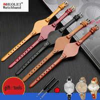 high quality genuine leather watchbands for fossil ES3077 ES2830 ES3262 ES3060 Stylish women's watch straps Small bracelet