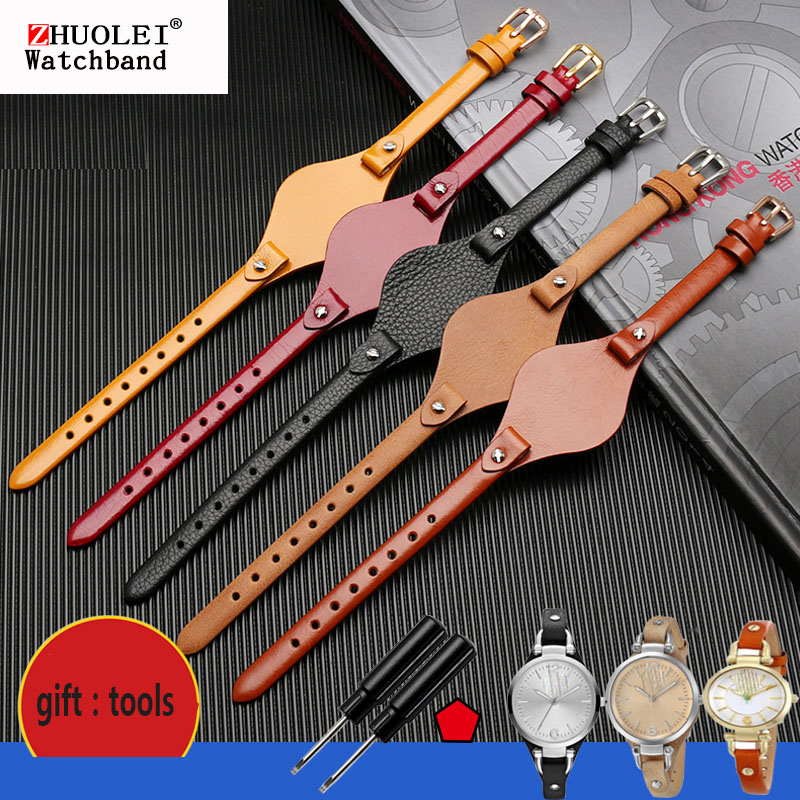 High Quality Genuine Leather Watchbands For Fossil ES3077 ES2830 ES3262 ES3060 Stylish Women's Watch Straps Small Bracelet