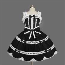 Women Victorian Lolita Kawaii Dress Gothic Cosplay Pretty Princess Dresses Girls Summer Sleeveless Lolita Dress Plus Size XS-3XL(China)