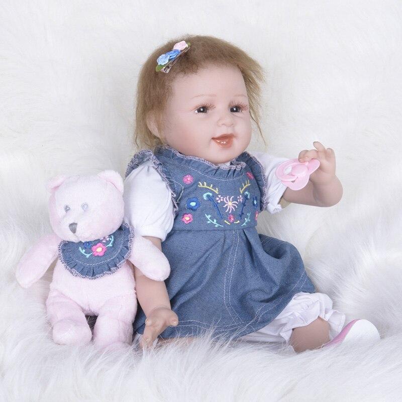 55cm Boneca Reborn Dolls with Dress Baby Girls Pregnant Doll Children Gifts House Play Toys for Girls S5536 Reborn Dolls 2016 new 1pcs lot bedroom furnitures for barbie dolls monster hight dolls for baby girls play house toys girls baby t03022