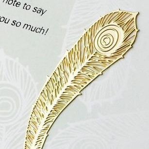 20pcs/set Vintage Bookmarks Cartoon Peacock feather plated 18K gold stainless steel Share tab for books metal bookends gift feis sq 1001 cross style stainless steel bookmarks silver 4 pcs