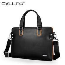 Brand Handbag Men Shoulder Bags Sxllns Business Tote Laptop Bag Leather Briefcase Men's Messenger Bag Free Shipping