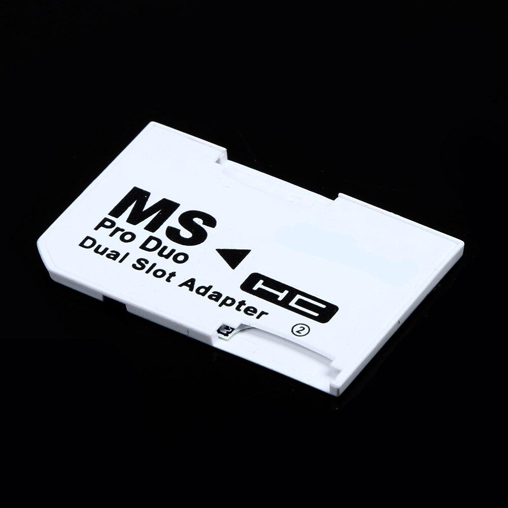 Адаптер с двумя слотами для карт памяти 2 Micro SD HC карты конвертер Micro SD TF для карты памяти MS Pro Duo для psp карты белый чехол для игр