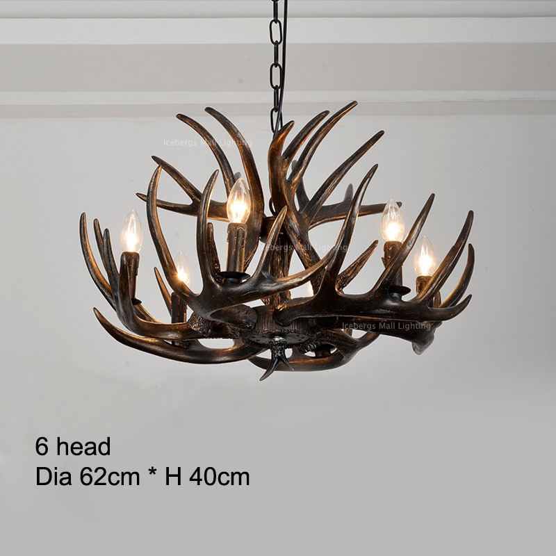 American country resin candle antler chandelier europe deer horn american country resin candle antler chandelier europe deer horn chandeliers lighting fixturesvintage kitchen chandeliers in chandeliers from lights aloadofball Images