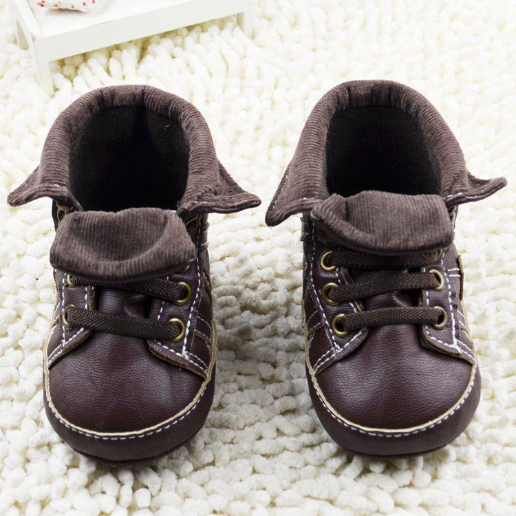 1ae2d99bb8dca Printemps PU cuir bébé bottes garçons bébé mocassins marron hiver chaussons  enfants chaussures filles premier marcheur dans Premiers Marcheurs de Mère  et ...