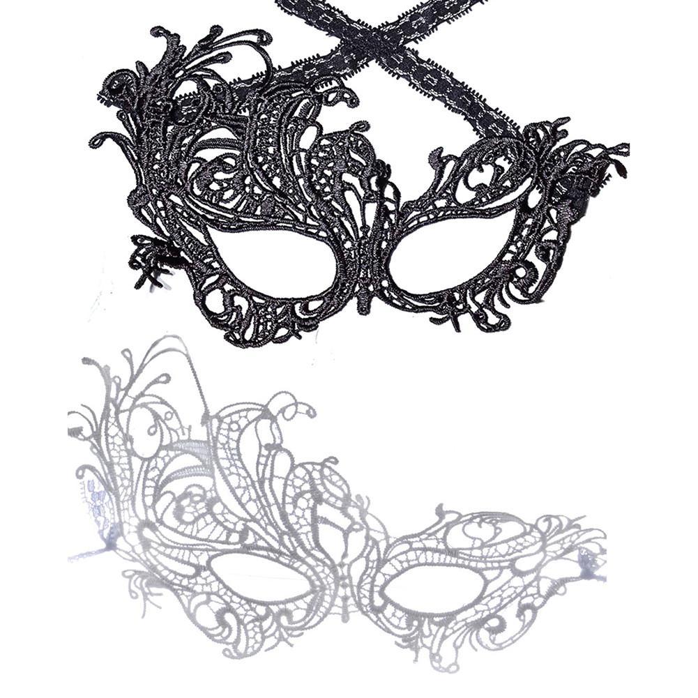 GF Black Lace W//Red Eye Masquerade Mask