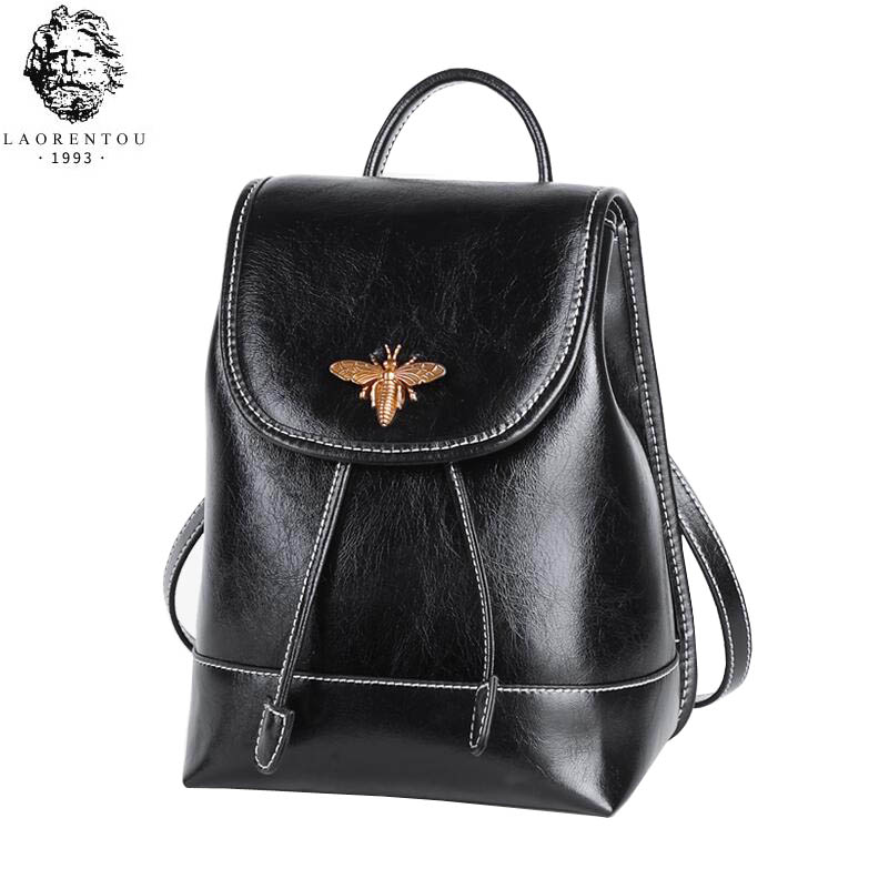 LAORENTOU shoulder bag female 2019 new Korean fashion trend leather backpack personality wild small backpack female famous brandLAORENTOU shoulder bag female 2019 new Korean fashion trend leather backpack personality wild small backpack female famous brand