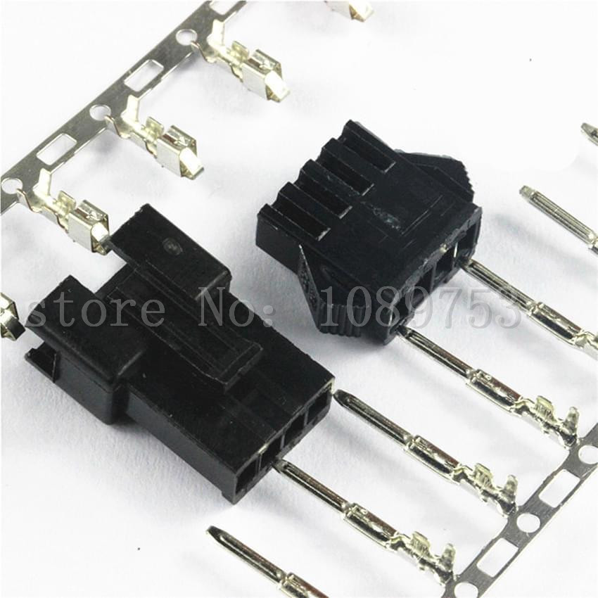 50 sets el 15p small tamiya electronic connector 4 5mm spacing el 4 5 15p multipole connectors male and femal plug terminals JST 2.5mm SM 4-Pin Battery Connector Plug Male and Female x 50 sets