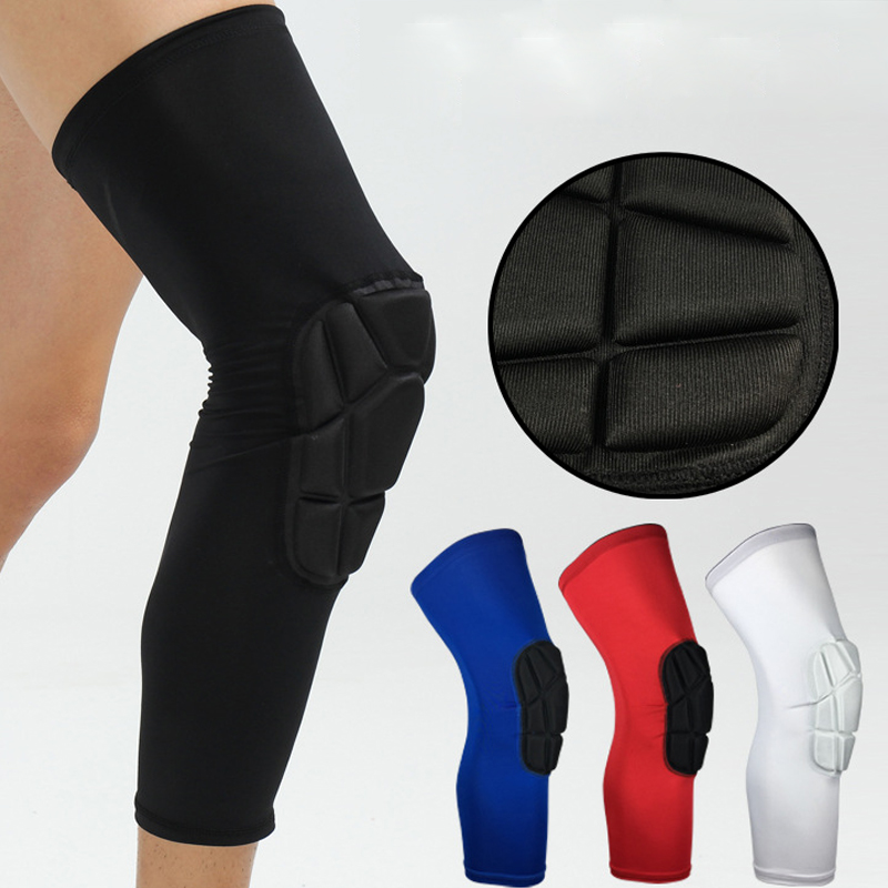 1 PAIR Knee Pads Adult Support Safety Lycra+EVA Knee Brace Support Sleeve Sport Protector Support Sport Safety HX008