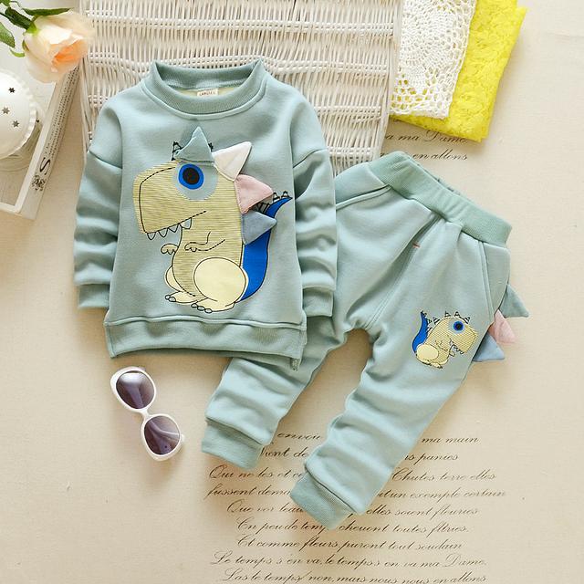 De calidad superior ropa de bebé baby boy gril Otoño/Invierno Mantener caliente embroma la ropa establece coat + pants traje ewborn trajes del deporte