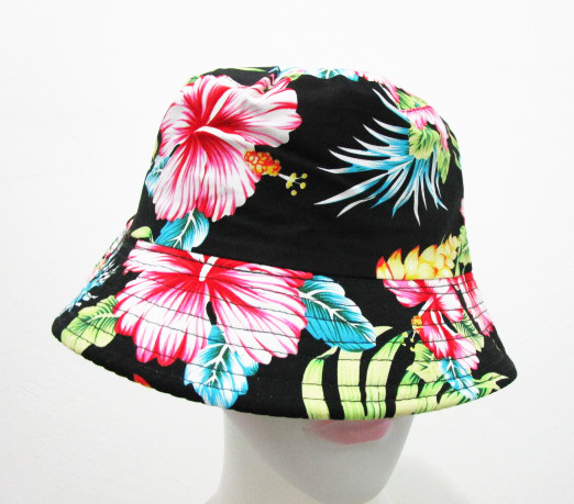 Free Shipping 2018 Black Colorful Floral Print Bucket Hats Floral Fishing  Caps For Women Ladies Mens 37184133ce1