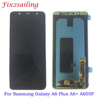 Super AMOLED For Samsung Galaxy A6/A6 Plus A6+ 2018 A600F A600FN A605F LCD Display Touch Screen Assembly Replacement Parts