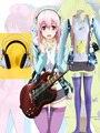 Hot Anime Nitro Super Sonic Super sonico Cosplay Costume include  Cosplay Necklace