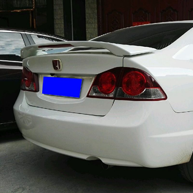Car Styling For Honda Civic 2006 2007 2008 2009 2010 2011 High Quality ABS Plastic Unpainted Primer Color Rear Wing Lip Spoiler abs plastic material unpainted primer color tail trunk wing rear roof spoiler car styling for honda crv cr v 2007 2011 aitwatt
