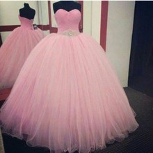 Cecelle 2019 Pink Ball Gown High School Prom Dresses Sweetheart Beaded  Ruched Corset Floor Length Party efc803e143fc