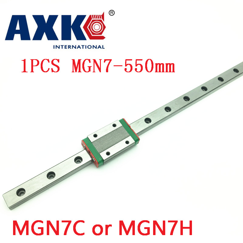 2018 AXK rail mgn7 For 7mm Linear Guide Mgn7 L= 550mm Linear Rail Way + Mgn7c Or Mgn7h Long Linear Carriage For Cnc X Y Z Axis free shipping for 7mm linear guide mgn7 l 400mm linear rail way mgn7c or mgn7h long linear carriage for cnc x y z axis