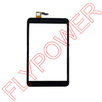 For Alcatel One Touch P320 P320X POP 8 Touch Screen Digitizer Front Glass Replacement Black Free