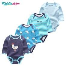 4PCS Clothing Sets 2019 Unisex Baby Girl Clothes Roupa de bebe Cotton Baby Boy Clothes Full Sleeve Unicorn Newborn Bodysuit