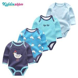 Image 1 - 4PCS Clothing Sets 2019 Unisex Baby Girl Clothes Roupa de bebe Cotton Baby Boy Clothes Full Sleeve Unicorn Newborn Bodysuit