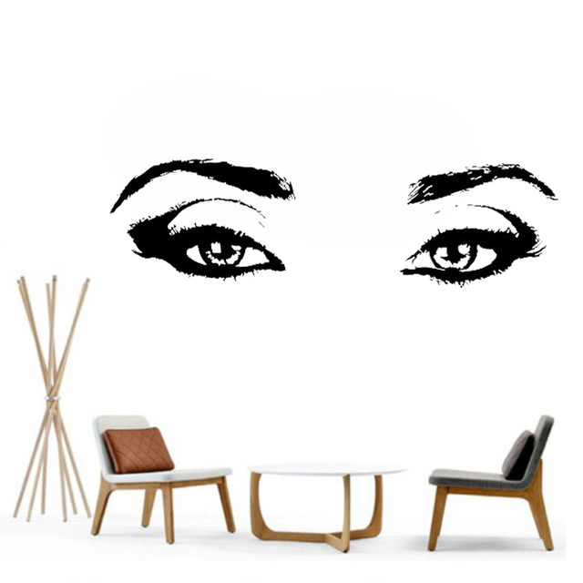 Vinyl Wall Decal Realistic Womens Eyes Silhouette Sexy Teens Face Art Decor  Removable Home Sticker Window Decoration L118 4b5cd8ae2