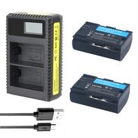 3Pcs DVISI 2750mAh LP E6 LPE6 LP E6 Battery LCD Dual Charger For Canon 5D Mark