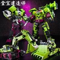 IN Stock Set A Transformation Jinbao Bruticus Oversize Ko Gt Devastator Bulldozer Excavator Robot Action Toy Figures