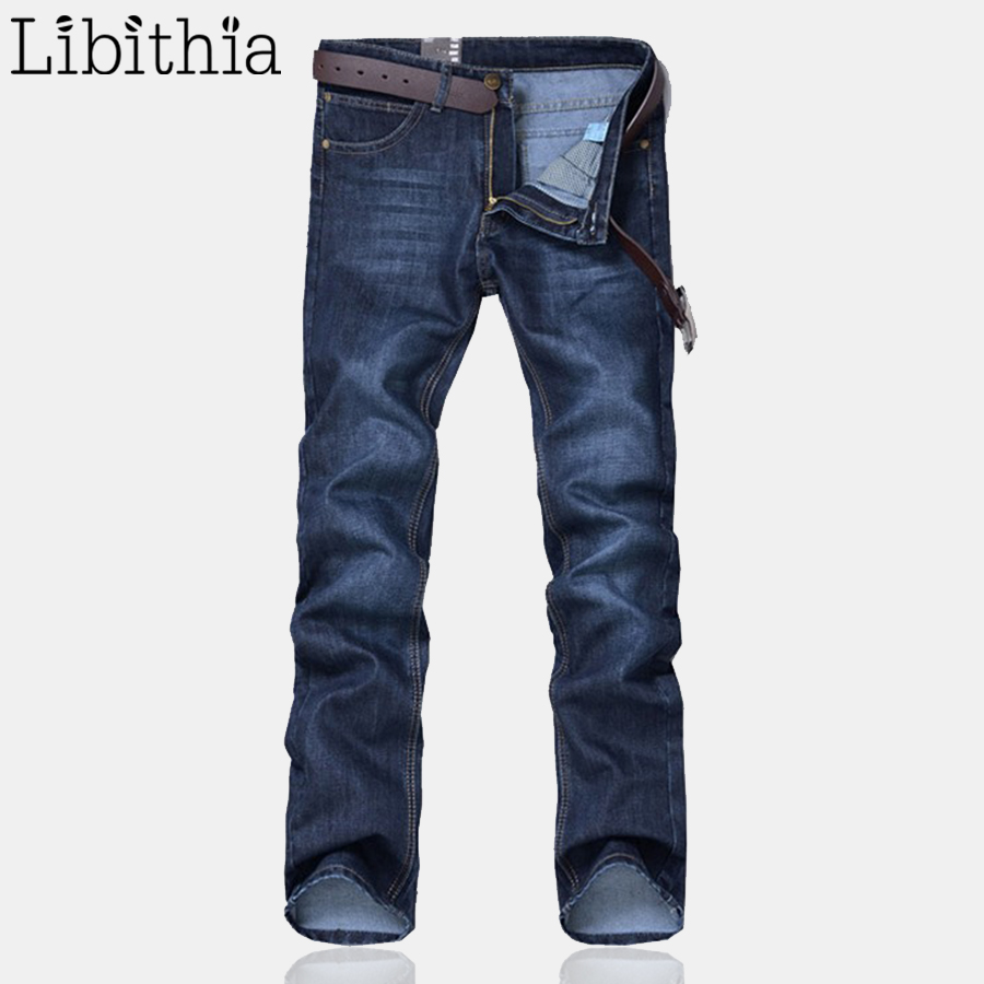 New Men Jeans Blue Denim Pants Straight Fashion Korean Style Slim Fit Casual Famous Brand Design Stretchy Denim Blue Big Size 38 free shipping new fashion rose embossing large capacity baby diaper bag nappy changing bags waterproof mummy bag