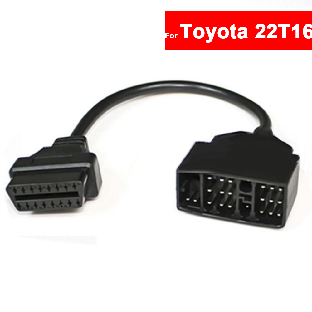 <font><b>22</b></font> <font><b>Pin</b></font> to 16 <font><b>Pin</b></font> OBD1 to <font><b>OBD2</b></font> Car Fault <font><b>Adapter</b></font> Diagnostic Tool for <font><b>Toyota</b></font> Cable Free Shipping image