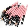 20 Unids Pinceles de Maquillaje Pro Set Polvos Sombra de Ojos Delineador de Labios Cosméticos Kit de Herramientas de Belleza