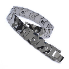 2017 Fashion Jewelry Tungsten Magnetic Hematite Mens Bracelet Health Care Wristband B504