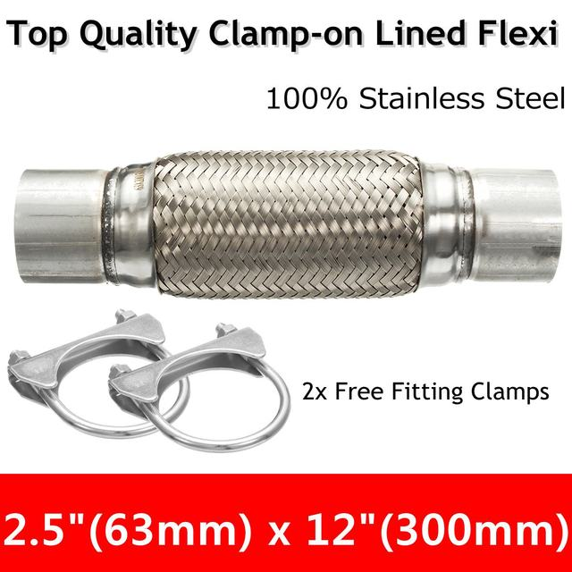 US $25 08 12% OFF|Exhaust Clamp on Flexi Tube Joint Flexible Pipe Repair  2 5