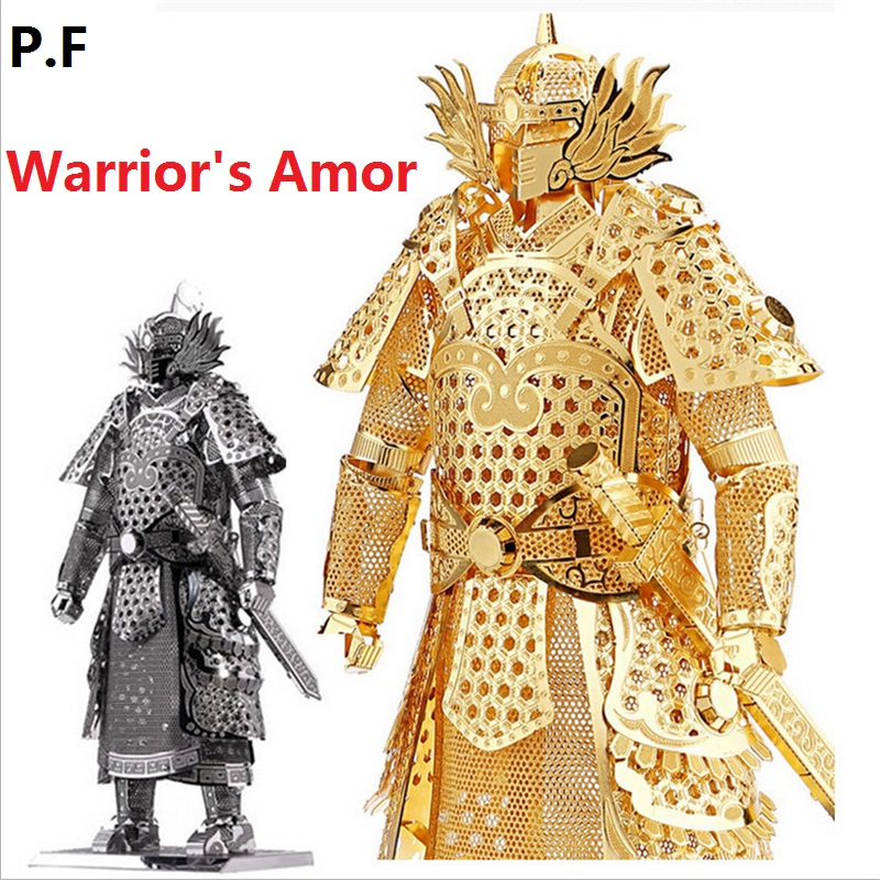 3D Metallic Assembly Model Unique Design Warriors Armor Model Puzzle General/Samurai for Kids/Adult DIY Toys for Artwork,Gifts new arrived japanese samurai armor 3d metal assembly model puzzles creative handmade toys