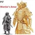 Metálico 3D Montaje Modelo de Diseño Único Guerreros Armadura Modelo Rompecabezas General/Samurai para Niños/Adultos DIY Juguetes para obras de arte, Regalos