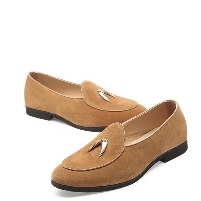 NPEZKGC New Casual Mens Shoes Suede Men Loafers Moccasins Fashion Low Slip On Men Flats Shoes oxfords Shoes Big size 45,46,47,48