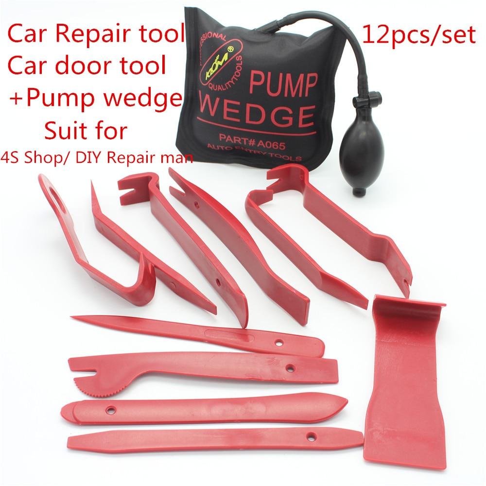 Car body repair tools plastic wedge PDR plastic pin plastic dowel PDR tools Plastic PDR hook parts for univeral car+pump wedge