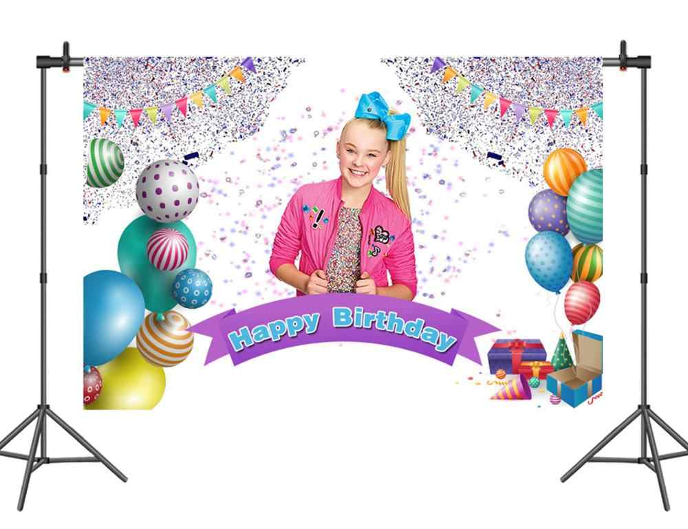 Sensfun ジョジョシワ写真撮影の背景の誕生日パーティーの写真の背景ハッピーバースデービニールの背景