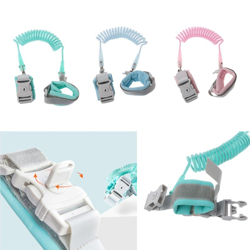 Baby Walker Safety Belt Anti Lost Wrist Link Add Key Lock Toddler Leash Wristband Walking Strap Double Tape