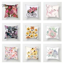 Fuwatacchi Oil Painting Flowers Cushion Covers Rose Sunflower Pillow Covers for Home Chair Sofa Decor Art Floral Pillowcases цены