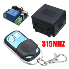 20~100M 2CH Remote Control Transmitter DC12V 315MHZ Wireless Remote Control Radio Relay Switch Transceiver Receiver Mayitr nice uting ce fcc industrial wireless radio double speed f21 4d remote control 1 transmitter 1 receiver for crane
