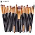 Pincéis de maquiagem 20 Pcs Escovas da Sombra de Olho Profissional Compo o Jogo de Escova Ferramentas Kit Conjunto de Cosméticos de Maquiagem Pincéis de Maquiagem Kabuki