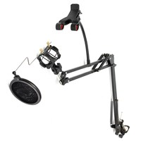 Best Professional Recording Microphone Suspension Boom Scissor Arm Stand Mic Stand Bracket Holder For K Song
