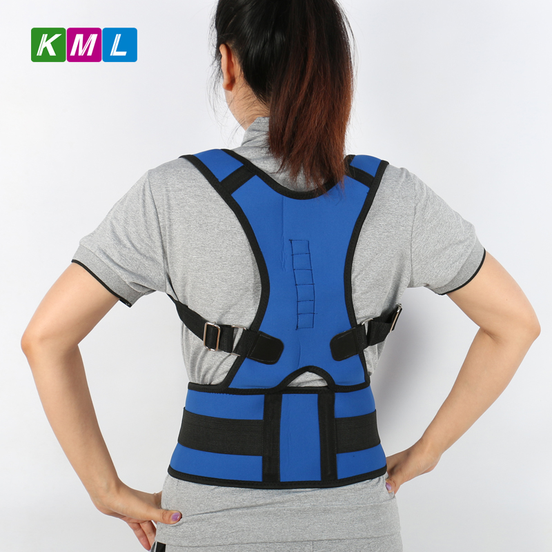 Magnetic Posture Corrector Orthopedic Magnetic Back Support Belt Back Brace Support Men Back Shoulder Straightener Round BKL01