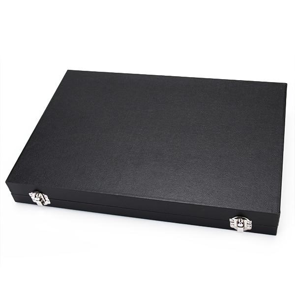Large 48 Pair Wooden Cufflinks Ring Jewlry Display Showcase Box Case Organizer