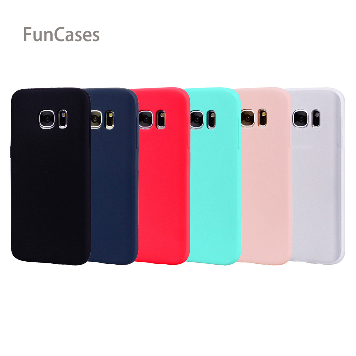 Slim Case sFor Capinha Samsung S7 Edge Soft TPU Back Cover Portable Cute Silicone Case sFor Samsung Galaxy S7 Edge Phone Pouch