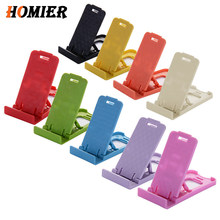 2pcs Universal Folding Table cell phone support Plastic holder desktop stand for iPhone sansumg xiaomi Smartphone 4 adjustable(China)