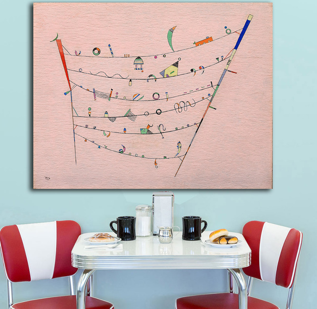 Little Accents Wassily Kandinsky Canvas Painting For Living Room ...