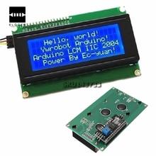 Плата Жидкокристаллический Дисплей IIC/I2C/TWI 2004 204 20X4 Характер ЖК Дисплей Модуль Для Arduino Синий Серийный 60 мм Х 99 мм